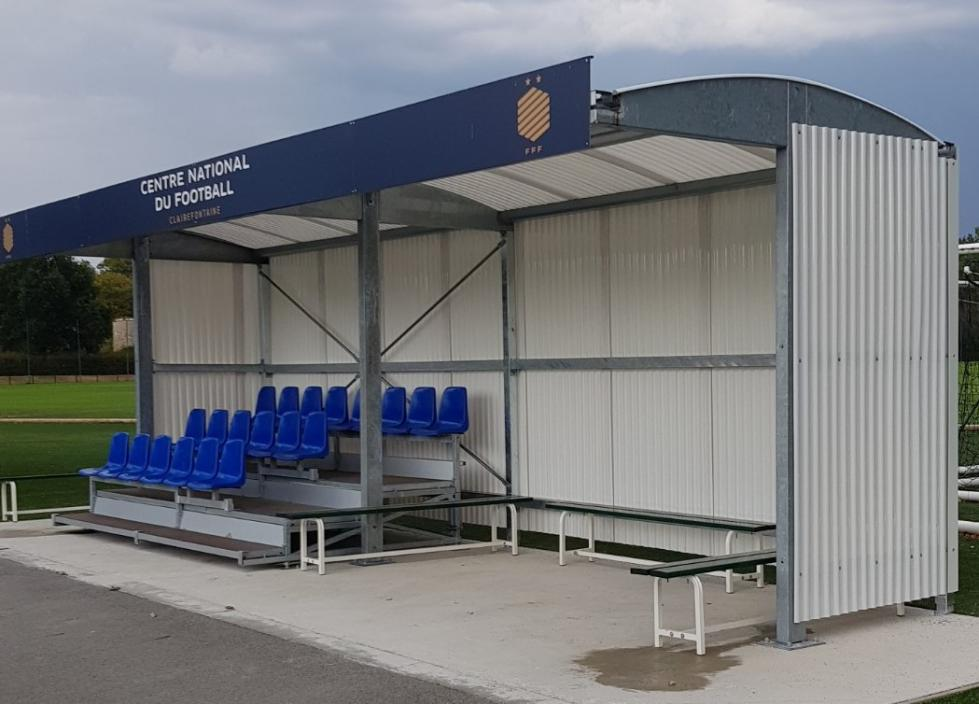 A mini covered stand Abristade® in Clairefontaine