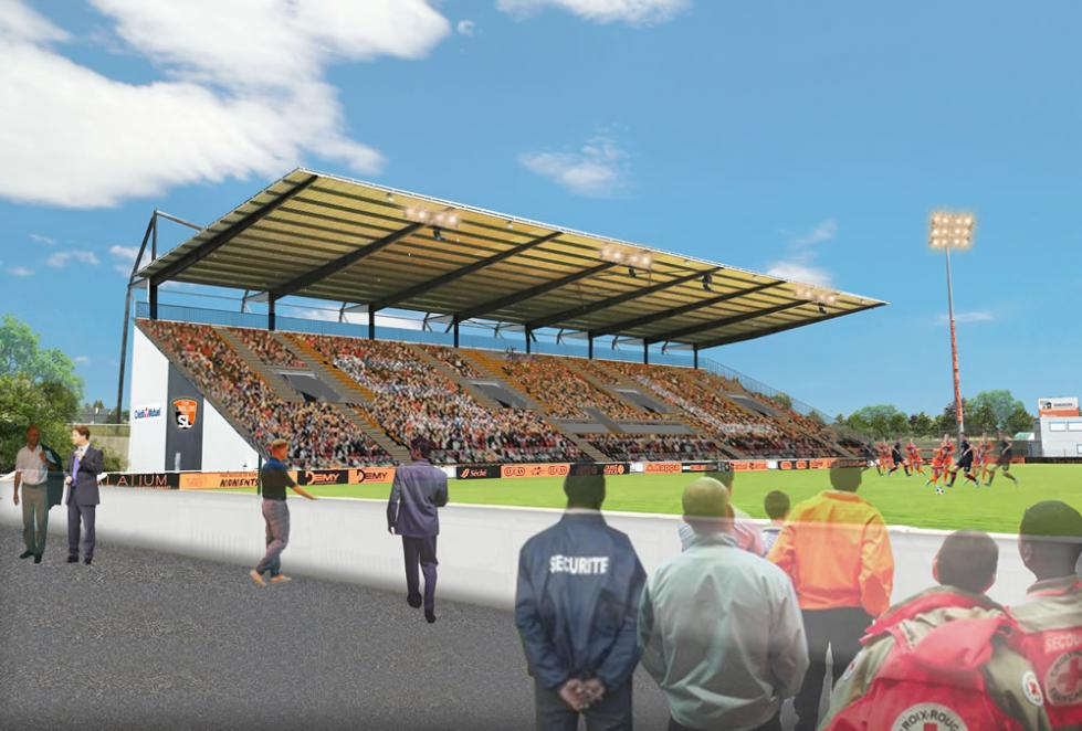 Alcor installs the new grandstand at Francis Le Basser stadium in Laval