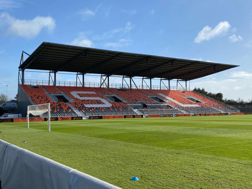 A new 4508 seat grandstand in Laval stadium