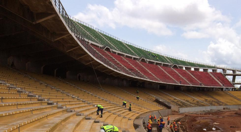 Alcor construit l'extension du stade de Yaoundé