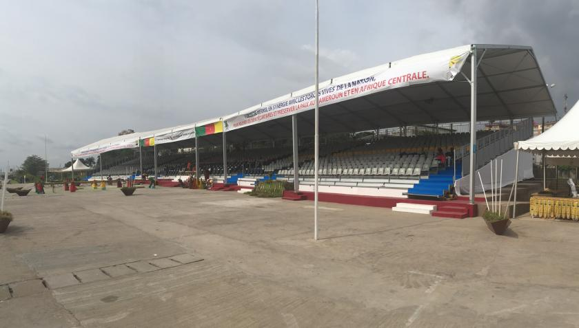 Alcor builds the largest modular grandstand in West Africa