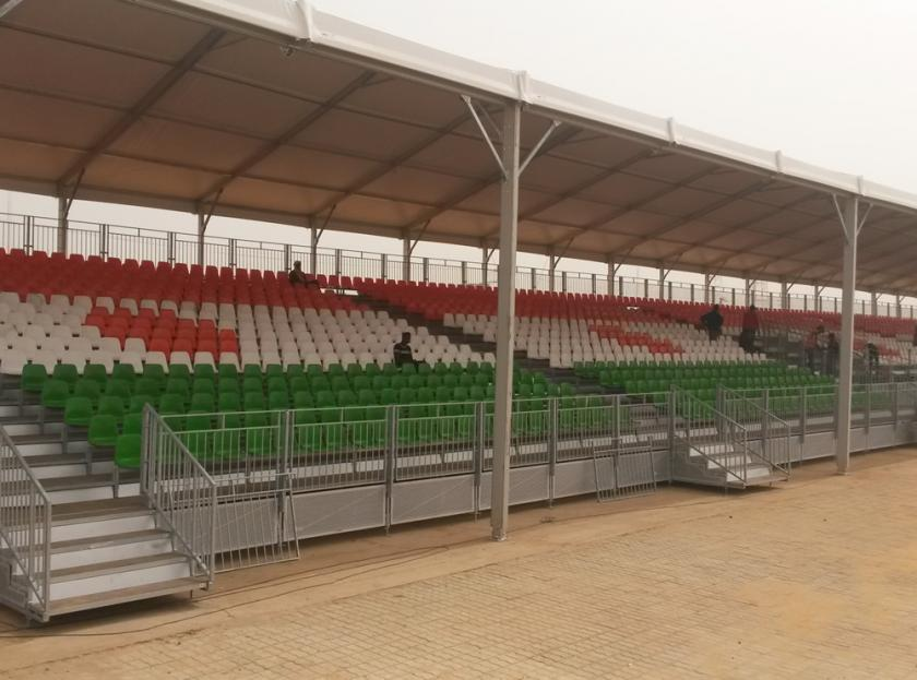 2,100 seats grandstand with roof in Niger