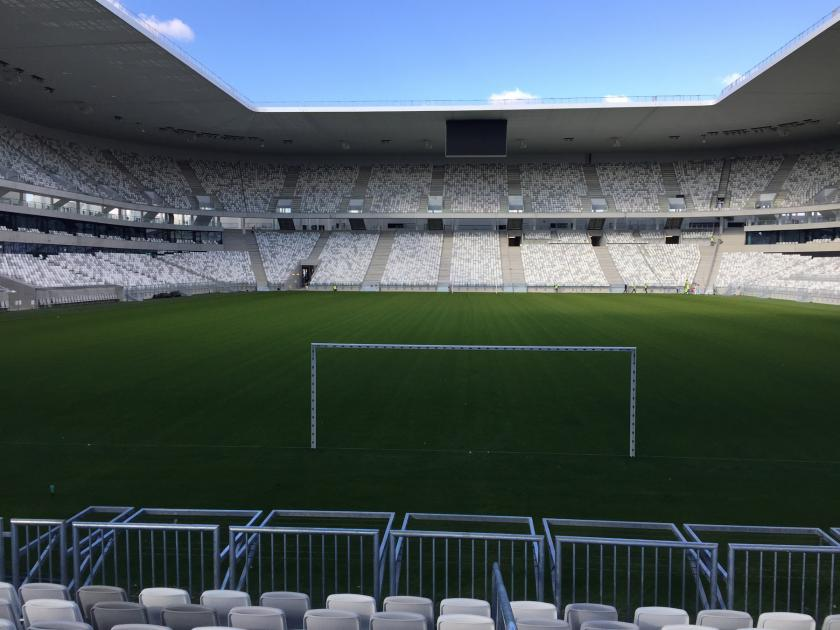 Euro 2016 : Alcor built the Bordeaux Stadium tribunes behind goals